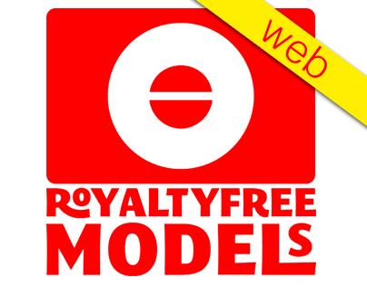 Royalty Free Models Website, UX, UI, Wireframe, Mindmap