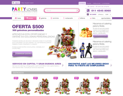 Party Supplies Identiti and Web Site