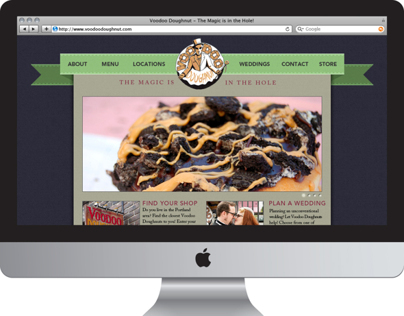 Voodoo Doughnuts Website Redesign