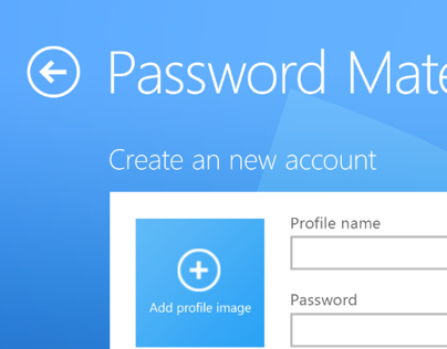 Password Mate. Windows 8 Metro UI