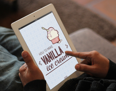 How to make a ice cream | ipad app