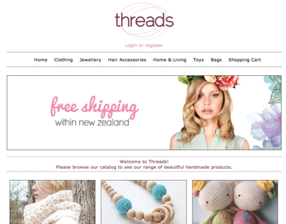 Threads online shop website