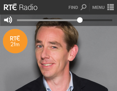 RTÉ Radio Player web app concept