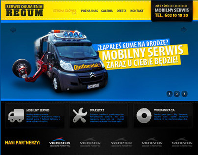 Regum - Website for tire service