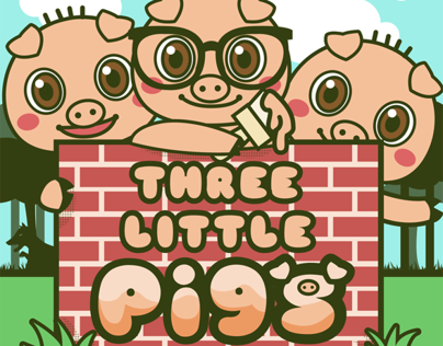 Three Little Pigs interactive fairy tale for iPad