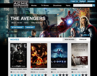 Acme Movie Review Website Design