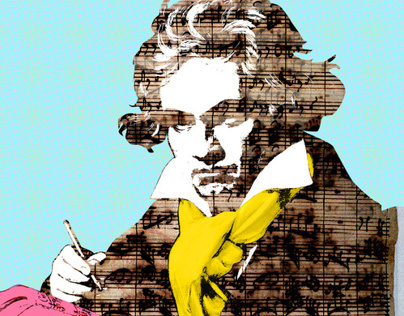 The Ludwig van Beethoven Collage Series