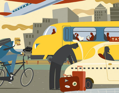 Modern Mobility Editorial illustration.
