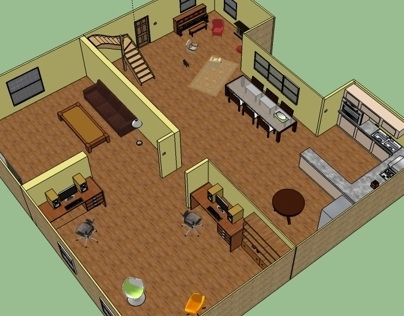 Living room layout - Google SketchUp