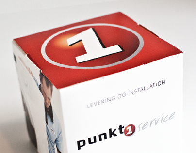 Punkt1. A series of empty packaging