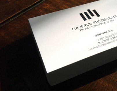 Piano Instructor Business Card