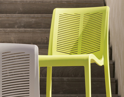 Contemporary outdoor chair - 2012 - Grosfillex