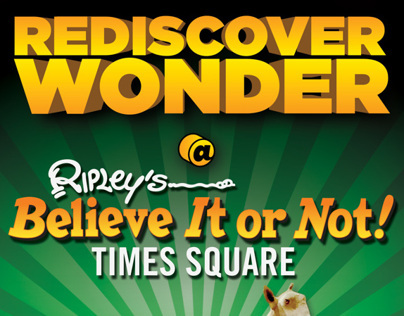 Ripleys Time Square Print Design