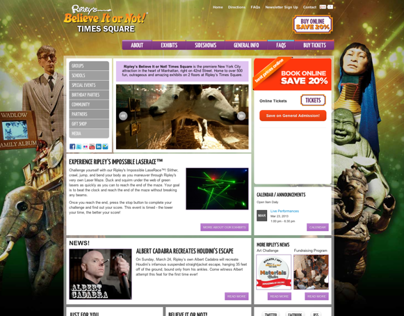 Ripleys New York & London Website Re-design