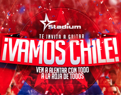 Gráfica Vamos Chile | Stadium Bar.