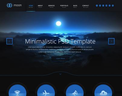 Moon PSD Template