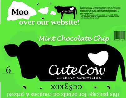 Cute Cow Ice Cream Sandwiches Packaging
