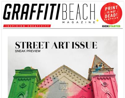 Graffiti Beach Magazine Marketing Material