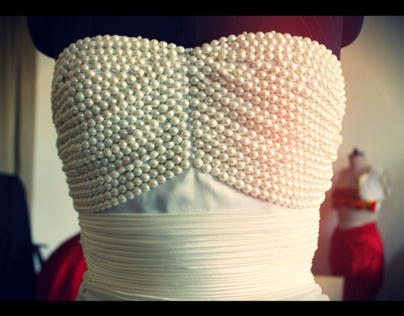 Wedding gown Draping & Exhibition Design