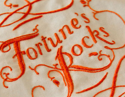 Fortunes Rocks - embroidered book cover