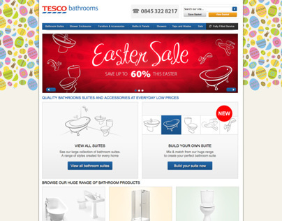 Tesco Bathrooms homepage