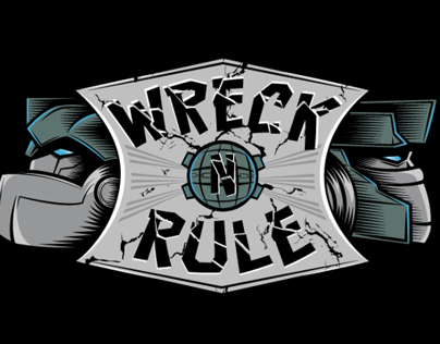 Wreck n Rule - T-shirt design