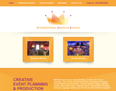 International Creative Events Website & Logo