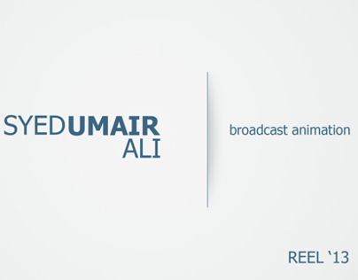 Broadcast Animation Reel 2013 [Syed Umair Ali]