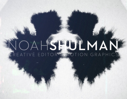 Noah Shulman Motion Reel 2013