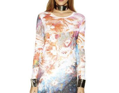 Liquid Flower Dress