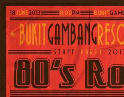 80's Rock Staff Party 2013