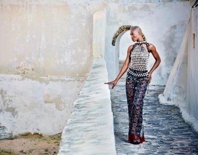 Walls of Elmina, fashion shoot with Bee Arthur in Ghana