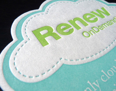 Letterpress Cloud Coasters