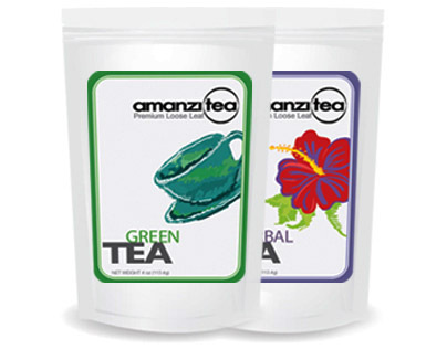 Digital Illustration / Package Design, Amanzi Tea, SC