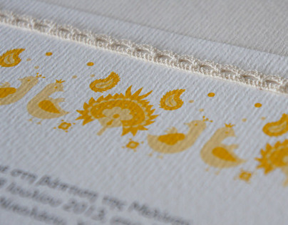 Traditional pattern Christening Invitation