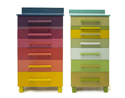 Two dressers with nine colours