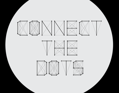 Connect The Dots - Typeface