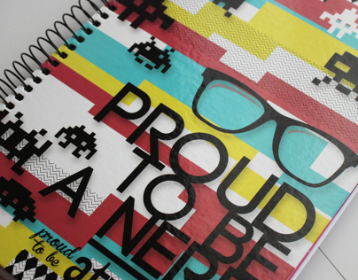 Atrevida Geek Notebook Cover 2013