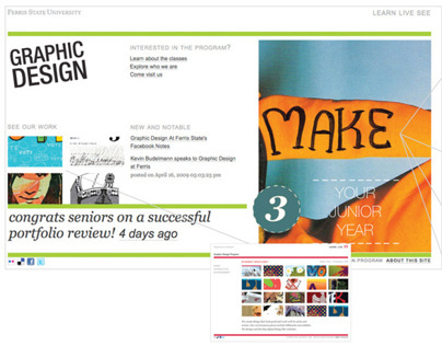 Graphic Design at Ferris: Site Redesign