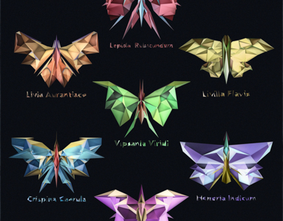 Low-Poly Butterflies