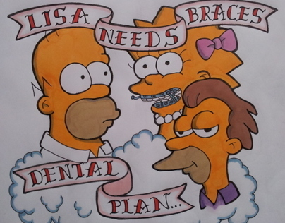 Dental Plan Simpsons Tattoo
