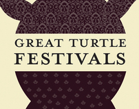 Great Turtle Festivals visual identity redesign