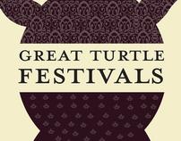 Great Turtle Festivals visual identity redesign