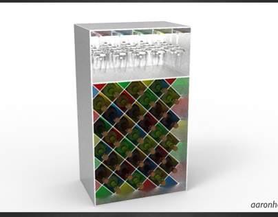 Wine Rack - (SolidWorks & KeyShot)