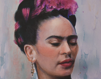 Watercolor Frida