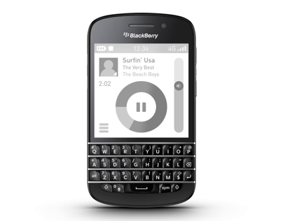 Blackberry BB10 Music Player UI
