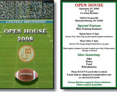 Cooney Brothers Open House Invitation