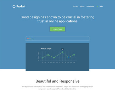 Product Showcase - Landing page