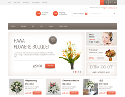 Flower Sales Site Theme