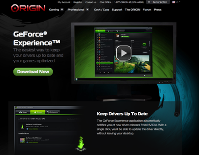 Landing Pages - ORIGIN PC